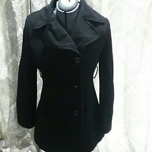 Black Nine West Women's pea coat